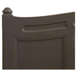 Lit pour literie 140x190 cm en pin massif taupe - Manoir - Visuel n°9
