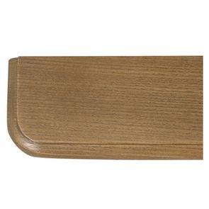 Lit pour literie 160x200 cm en pin massif taupe - Manoir - Visuel n°7