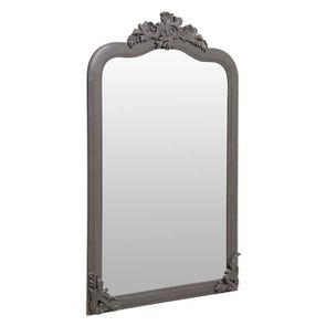 Miroir taupe en pin massif - Manoir - Visuel n°2