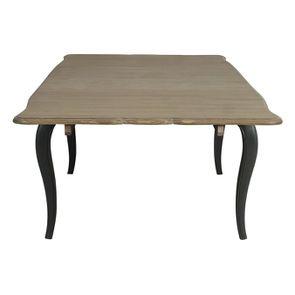 Table extensible taupe en pin 12 à 14 personnes - Manoir - Visuel n°7