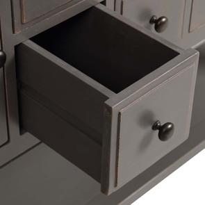 Console sauteuse taupe 4 tiroirs et 2 portes - Manoir - Visuel n°4