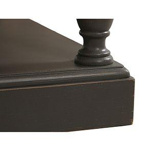 Table basse carrée taupe en pin - Manoir - Visuel n°4