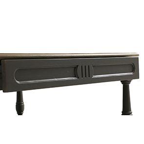 Table basse carrée taupe en pin - Manoir - Visuel n°6