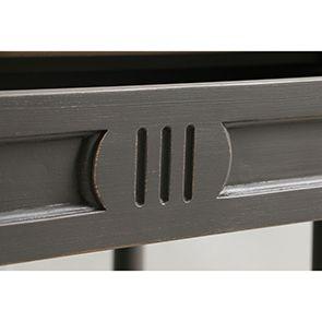 Table drapier 2 tiroirs en pin taupe - Manoir - Visuel n°5