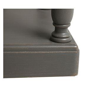 Table drapier 2 tiroirs en pin taupe - Manoir - Visuel n°7
