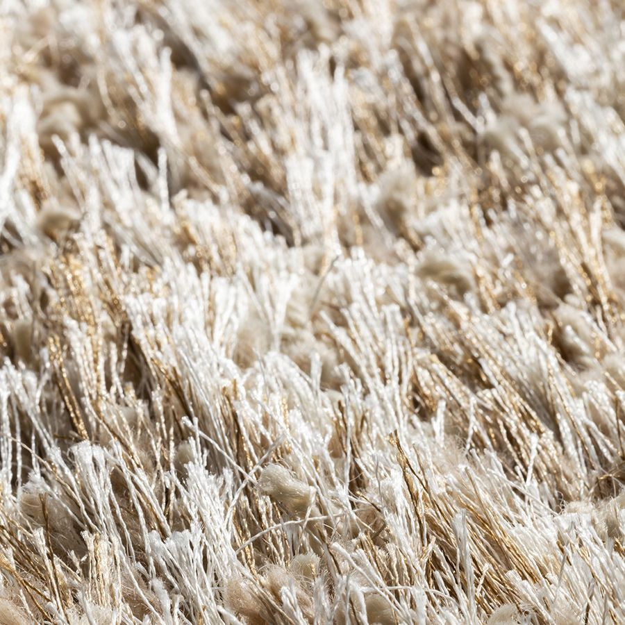 Tapis à poils longs beige foncé 160x230cm - Céleste