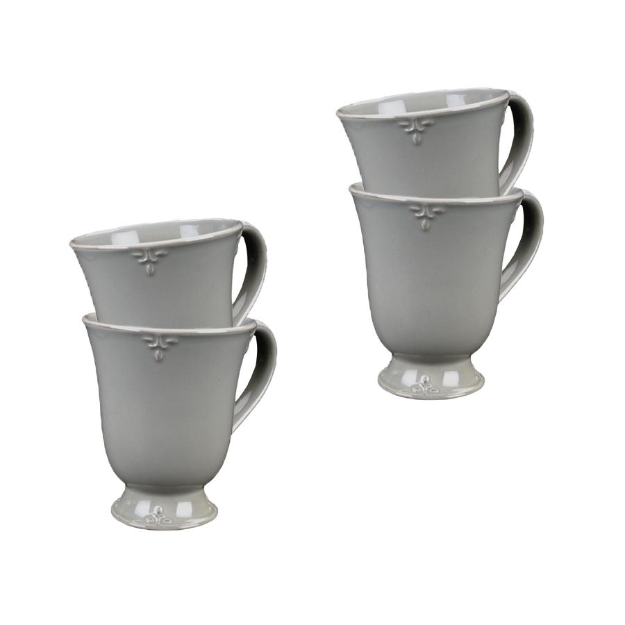 Mugs gris en céramique (lot de 4)