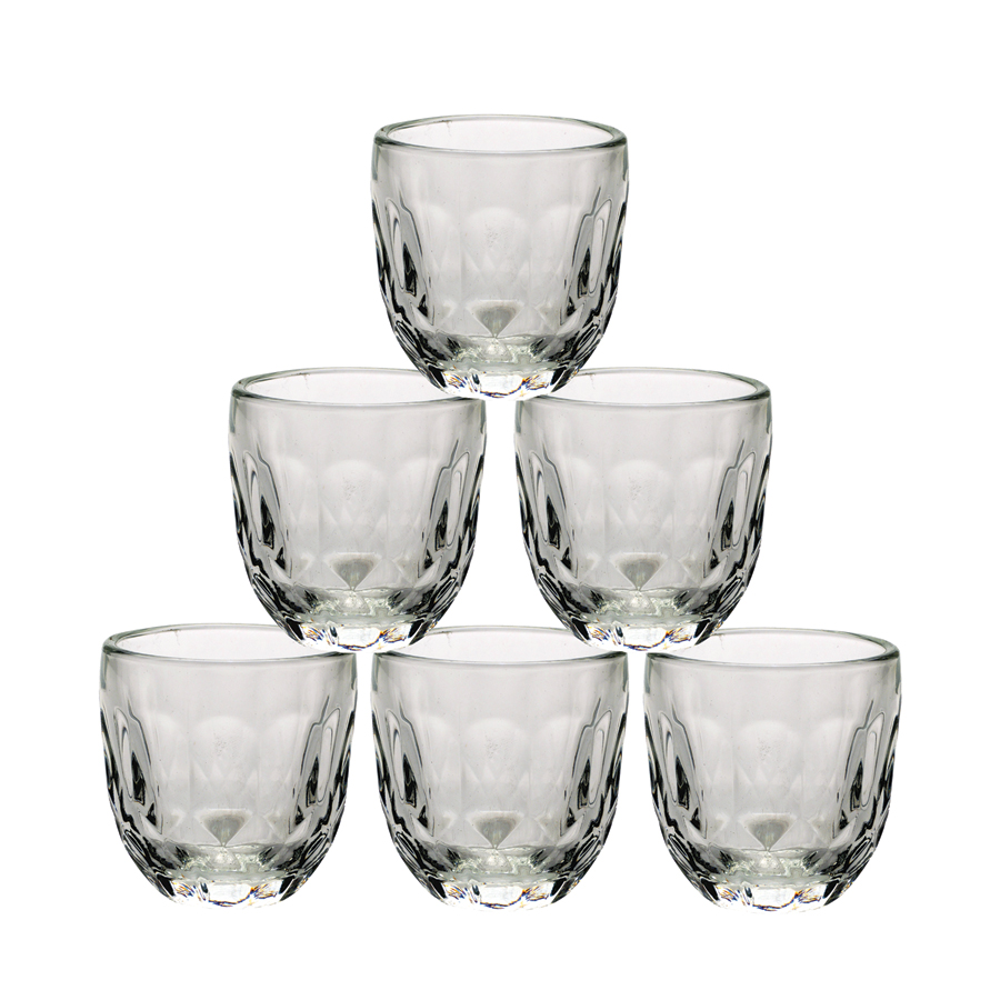 Tasses à expresso en verre transparent (lot de 6)