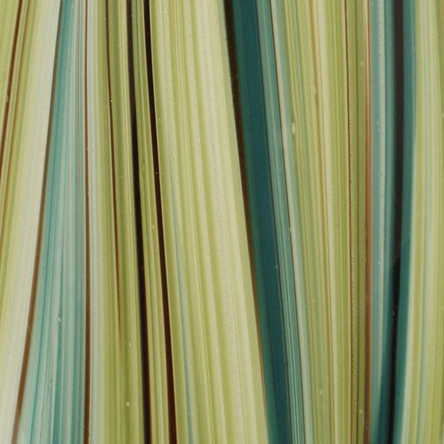 Vase en verre soufflé à la bouche vert