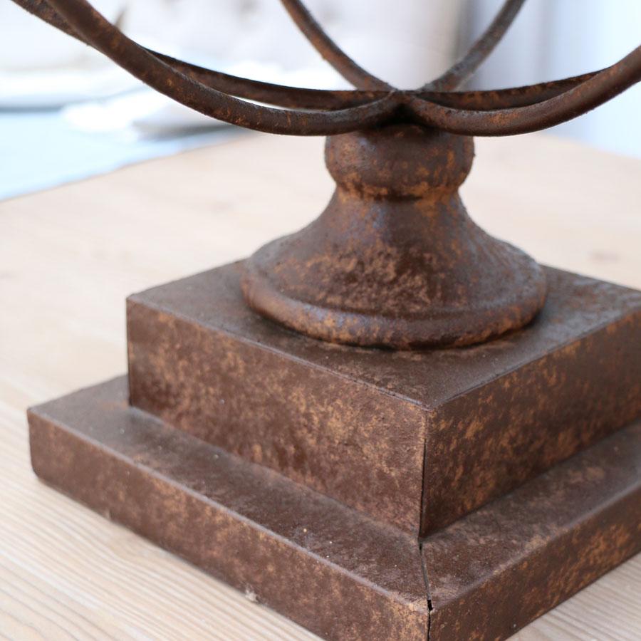 Photophore en bois, verre et métal