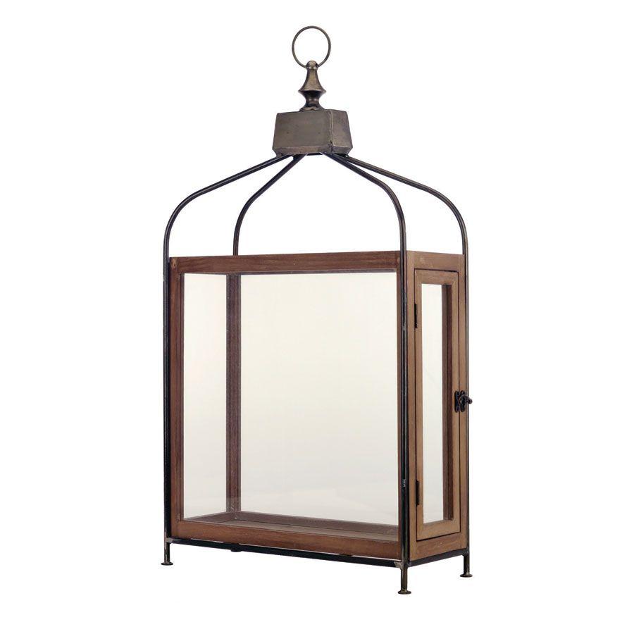 Lanterne en bois et métal