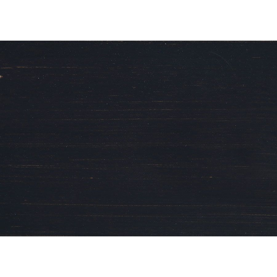 Casserolier cuisine en pin massif noir graphite - Brocante