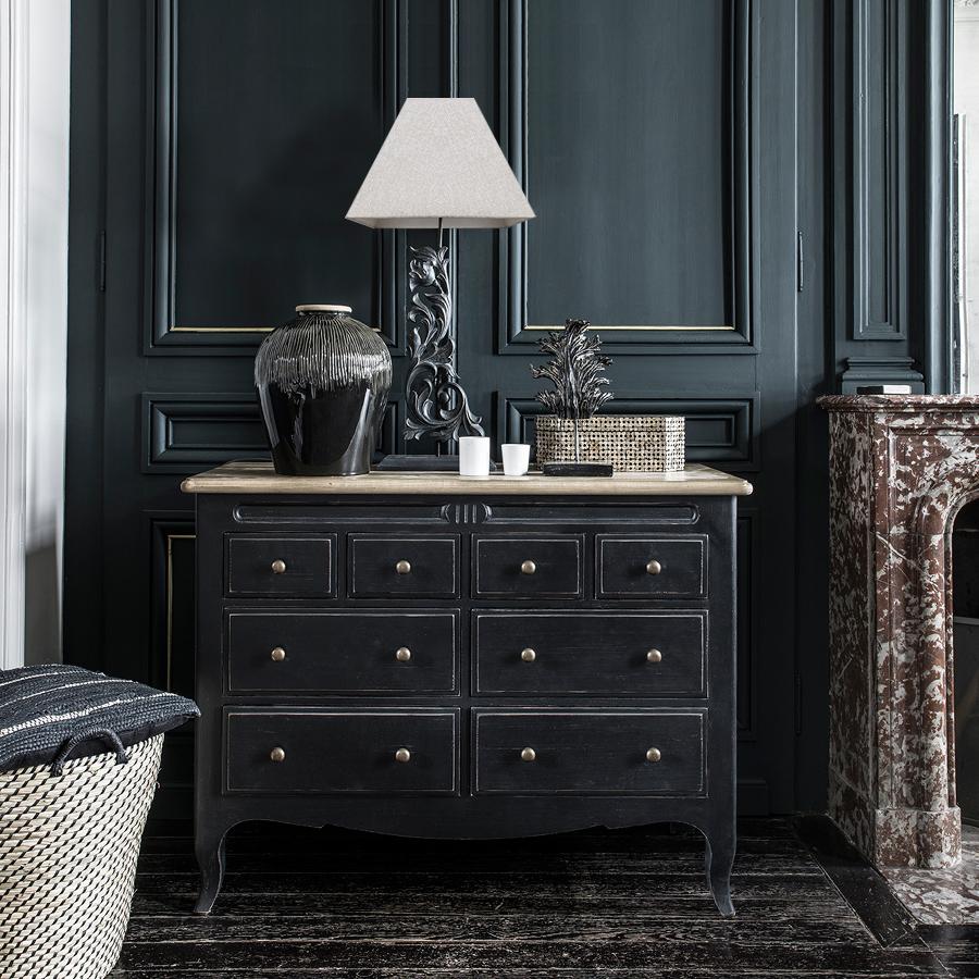 Commode 8 tiroirs en pin massif - Manoir