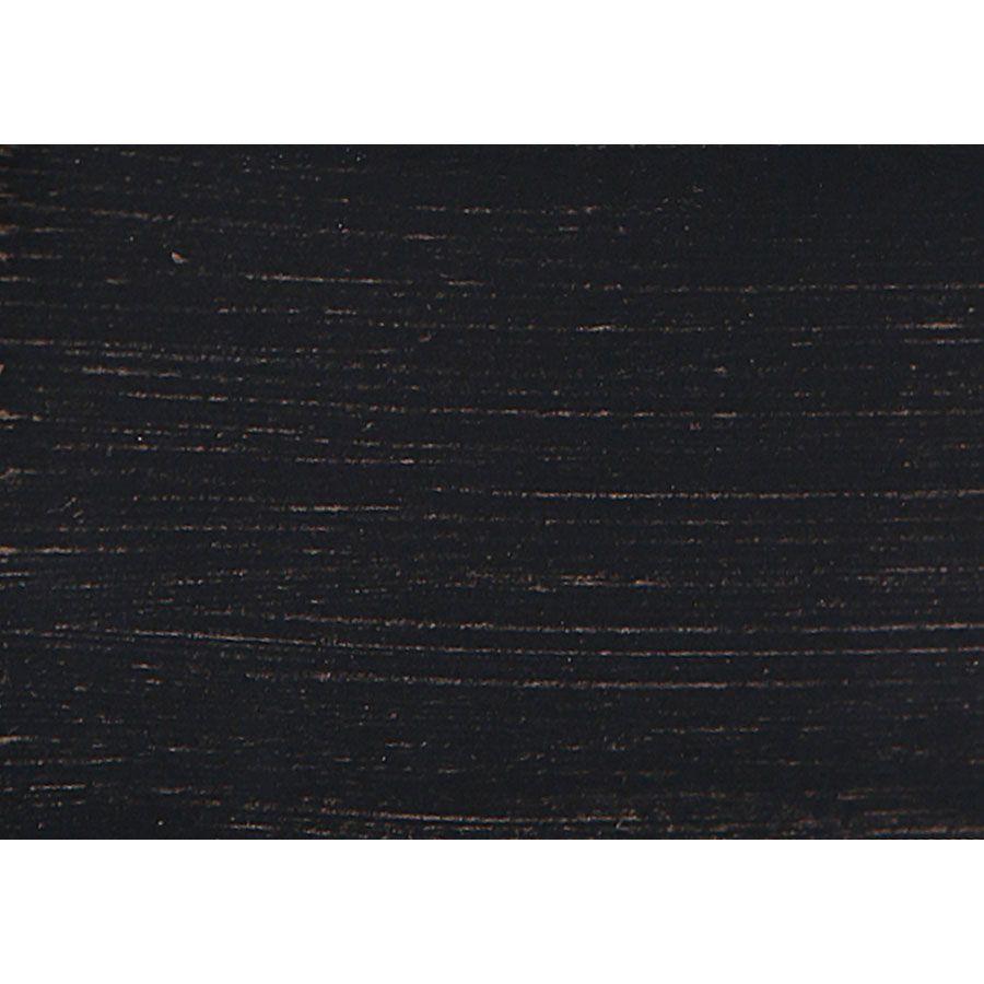 Meuble TV baroque noir avec rangements en pin - Manoir