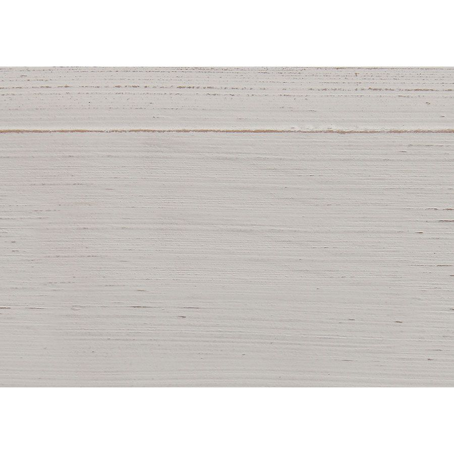 Armoire penderie en pin massif blanc vieilli - Manoir