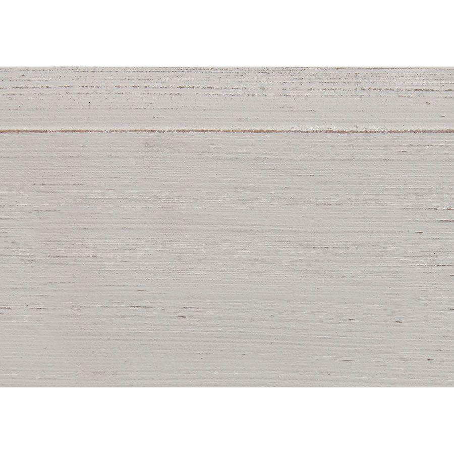 Chaise médaillon blanche en hévéa et tissu - Manoir