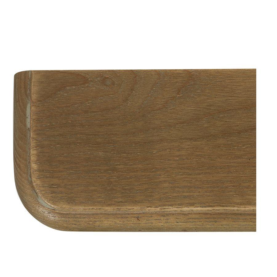 Lit 2 places 160x200 cm en bois blanc vieilli - Manoir