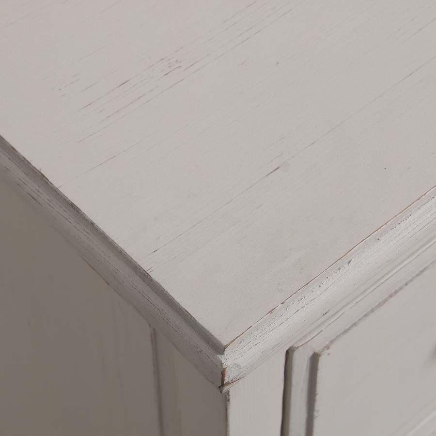 Caisson blanc 6 tiroirs en pin massif - Manoir