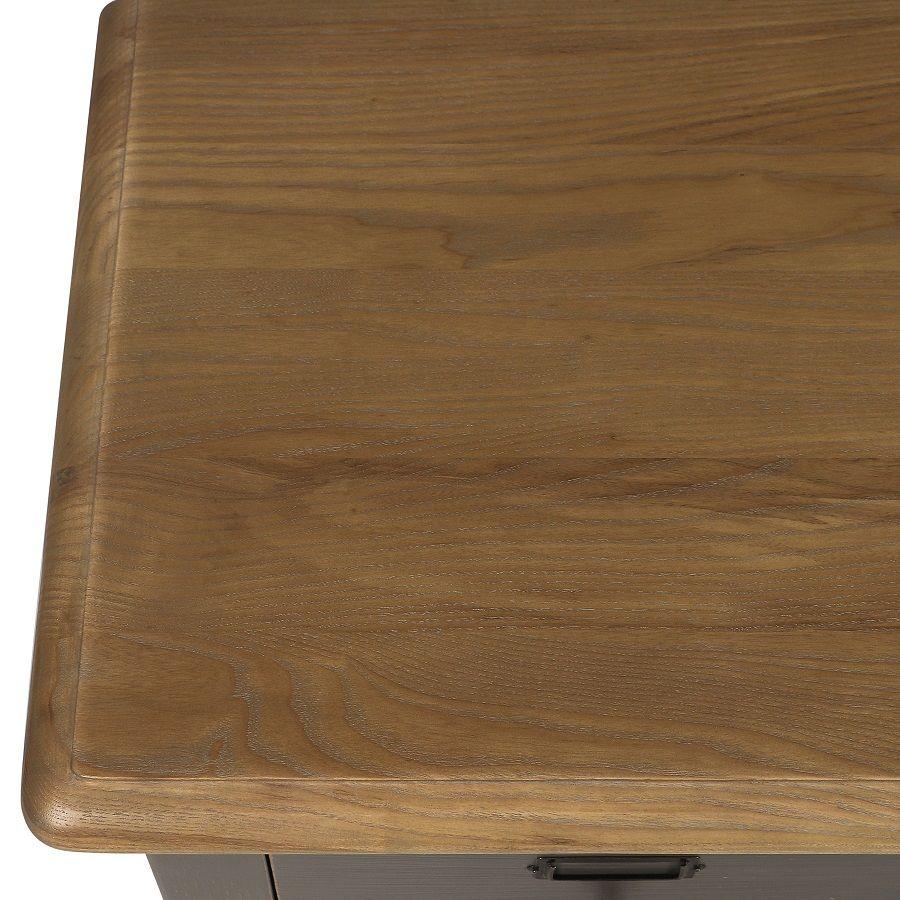 Buffet taupe 18 tiroirs en pin massif - Manoir