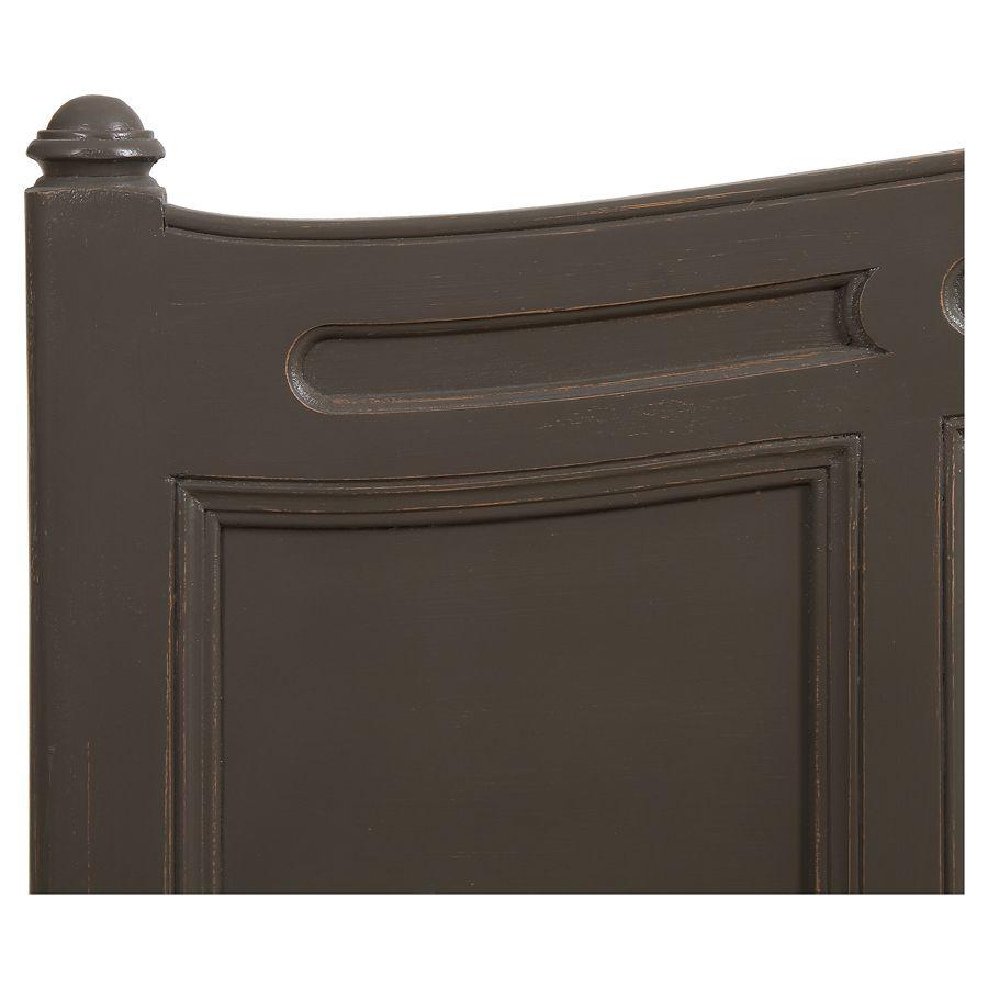 Lit pour literie 140x190 cm en pin massif taupe - Manoir