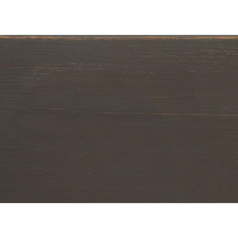 Lit pour literie 160x200 cm en pin massif taupe - Manoir