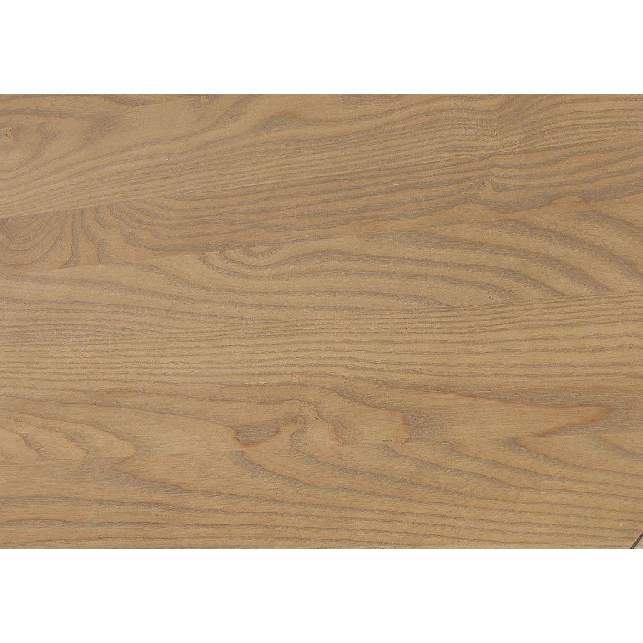 Lit 2 places 180x200 cm en bois taupe moyen - Manoir