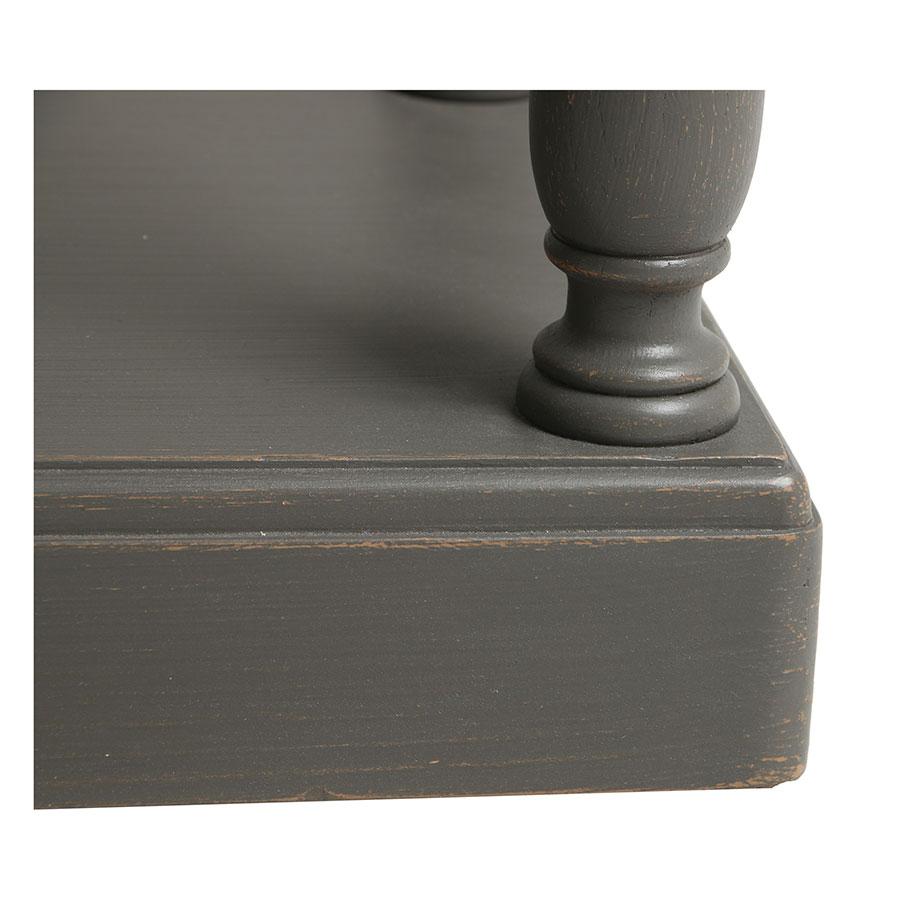Table drapier 2 tiroirs en pin taupe - Manoir